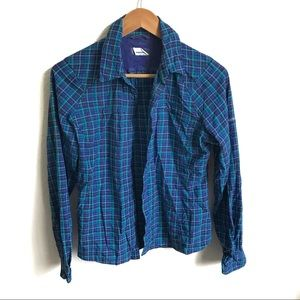 Columbia plaid button down size small